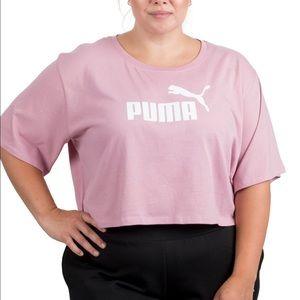 PUMA Cropped Cotton Logo T-shirt
